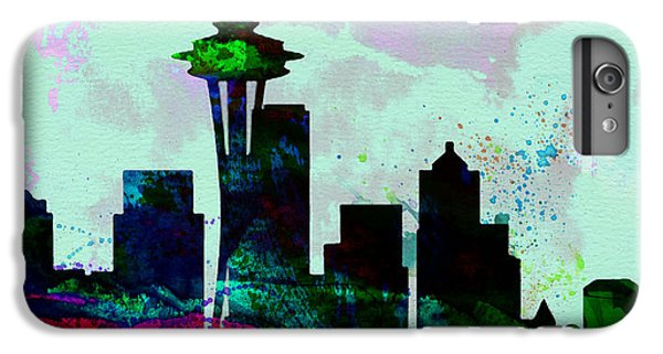 Seattle City Skyline IPhone 6 Plus Case by Naxart Studio