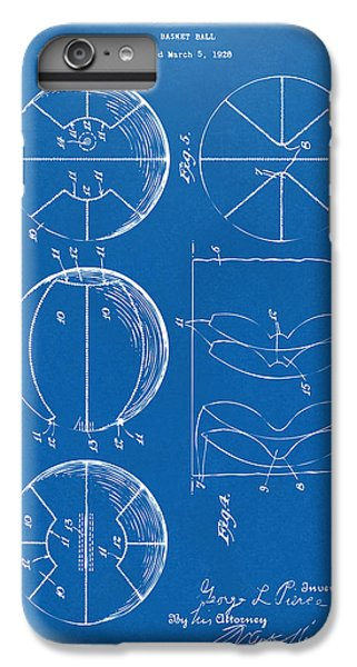 1929 Basketball Patent Artwork - Blueprint IPhone 6 Plus Case by Nikki Marie Smith