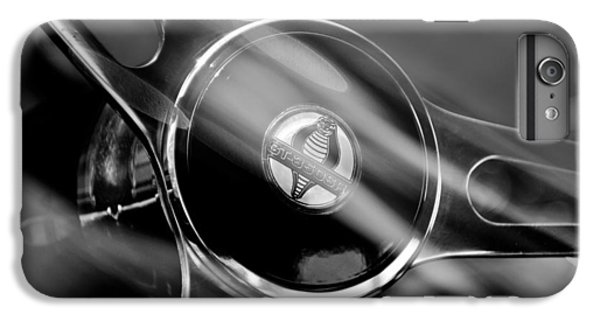 1965 Ford Mustang Cobra Emblem Steering Wheel IPhone 6 Plus Case by Jill Reger