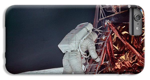 Astronauts iPhone 6 Plus Case - Apollo 11 Moon Landing by Image Science And Analysis Laboratory, Nasa-johnson Space Center