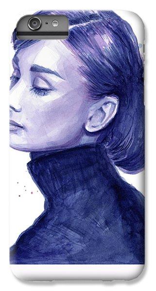 Audrey Hepburn Portrait IPhone 6 Plus Case by Olga Shvartsur