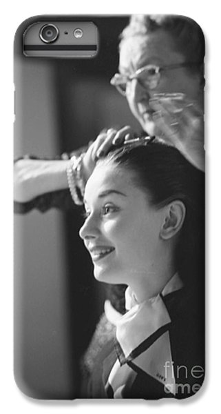 Audrey Hepburn iPhone 6 Plus Case - Audrey Hepburn Preparing For A Scene In Roman Holiday by The Harrington Collection