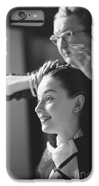 Audrey Hepburn Preparing For A Scene In Roman Holiday IPhone 6 Plus Case by The Harrington Collection