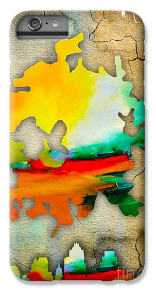 Austin Map And Skyline Watercolor IPhone 6 Plus Case