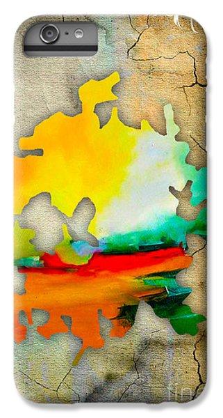 Austin Map Watercolor IPhone 6 Plus Case