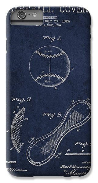 Baseball Cover Patent Drawing From 1924 IPhone 6 Plus Case