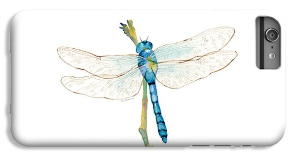 Blue Dragonfly IPhone 6 Plus Case