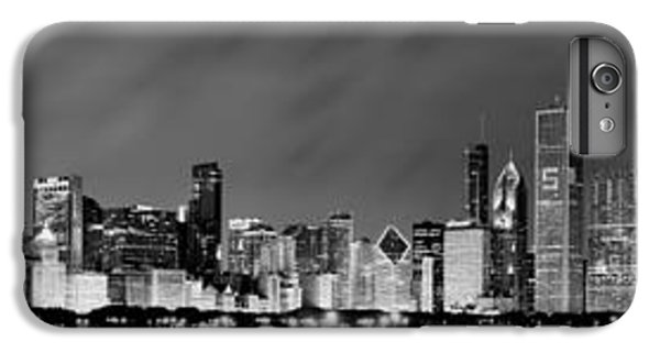 Chicago Skyline At Night In Black And White IPhone 6 Plus Case by Sebastian Musial