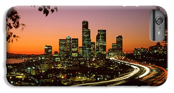 City Of Seattle Skyline IPhone 6 Plus Case by King Wu
