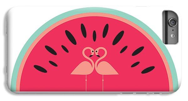 Flamingo Watermelon IPhone 6 Plus Case by Susan Claire