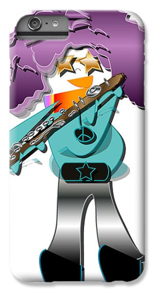 IPhone 6 Plus Case featuring the digital art Flute Player by Marvin Blaine