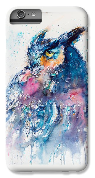 Owl iPhone 6 Plus Case - Great Horned Owl by Kovacs Anna Brigitta