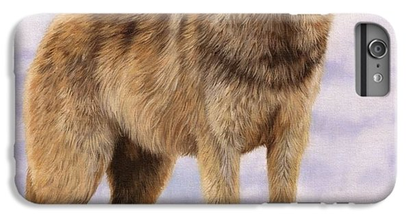 Wolves iPhone 6 Plus Case - Grey Wolf by David Stribbling