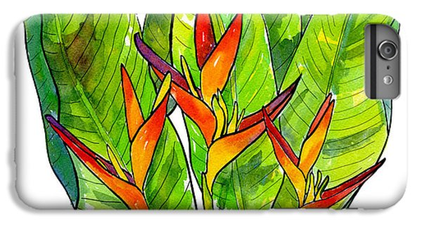 Heleconia IPhone 6 Plus Case by Diane Thornton