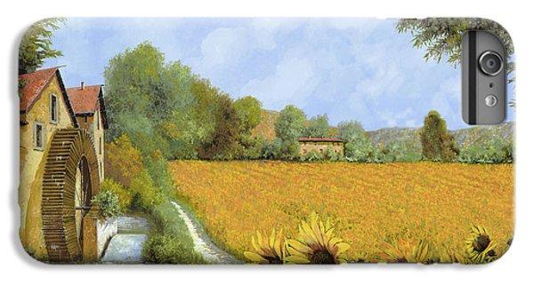 Sunflower iPhone 6 Plus Case - Il Mulino E I Girasoli by Guido Borelli