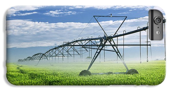 Rural Scenes iPhone 6 Plus Case - Irrigation Equipment On Farm Field by Elena Elisseeva