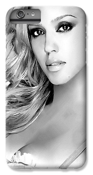 #1 Jessica Alba IPhone 6 Plus Case by Alan Armstrong