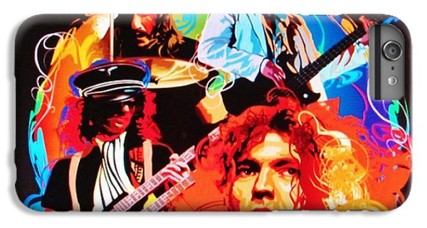 Rock Music Jimmy Page iPhone 6 Plus Case - Led Zeppelin Art by Donna Wilson