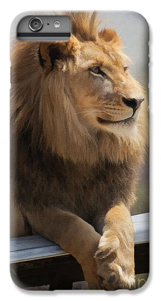 Lion iPhone 6 Plus Case - Majestic Lion by Sharon Foster