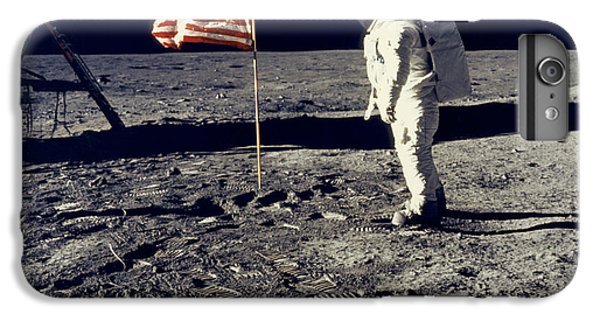 Astronauts iPhone 6 Plus Case - Man On The Moon by Neil Armstrong/Underwood Archive
