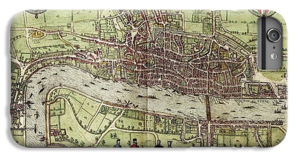 Tower Of London iPhone 6 Plus Case - Map Of London by Library Of Congress, Geography And Map Division