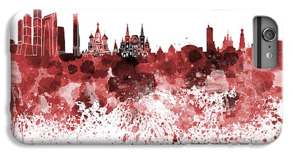 Moscow Skyline White Background IPhone 6 Plus Case