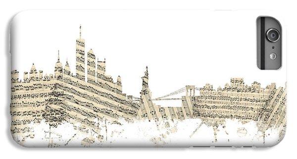 Philadelphia Pennsylvania Skyline Sheet Music Cityscape IPhone 6 Plus Case