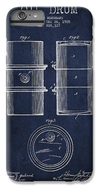 Drum iPhone 6 Plus Case - Oil Drum Patent Drawing From 1905 by Aged Pixel