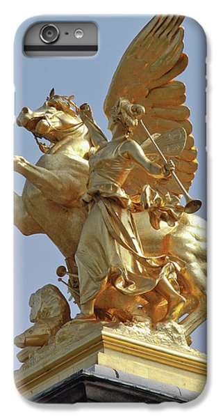 Pegasus Statue At The Pont Alexander IPhone 6 Plus Case by William Sutton