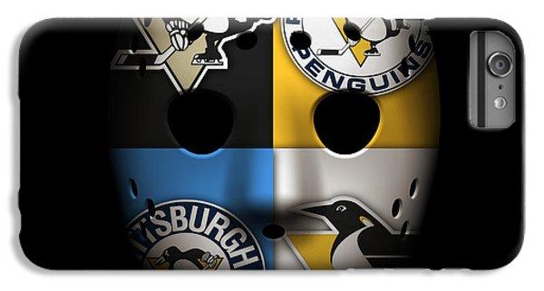 Penguin iPhone 6 Plus Case - Penguins Goalie Mask by Joe Hamilton
