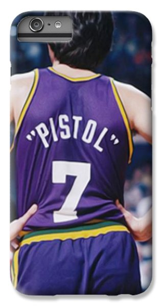 Pistol Pete Maravich IPhone 6 Plus Case by Paint Splat