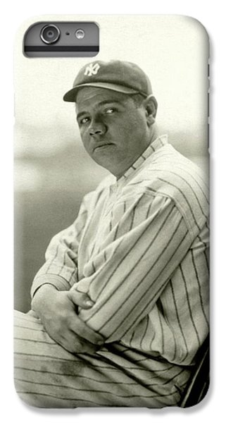 Portrait Of Babe Ruth IPhone 6 Plus Case by Arnold Genthe