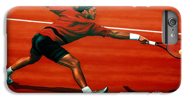 Roger Federer At Roland Garros IPhone 6 Plus Case by Paul Meijering