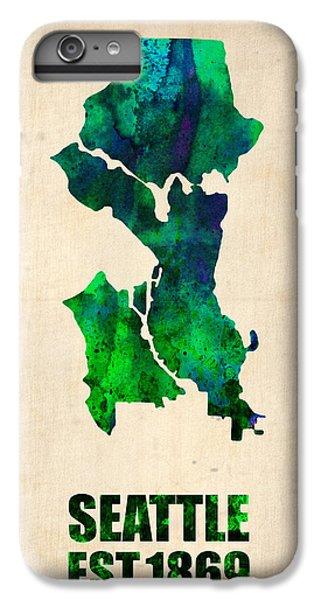 Seattle Watercolor Map IPhone 6 Plus Case by Naxart Studio