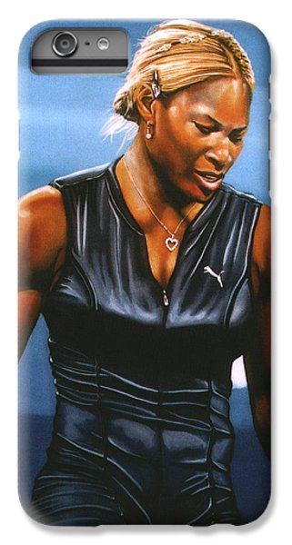 Serena Williams IPhone 6 Plus Case by Paul Meijering