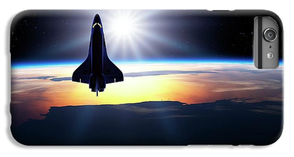 Space Shuttle In Orbit IPhone 6 Plus Case by Detlev Van Ravenswaay