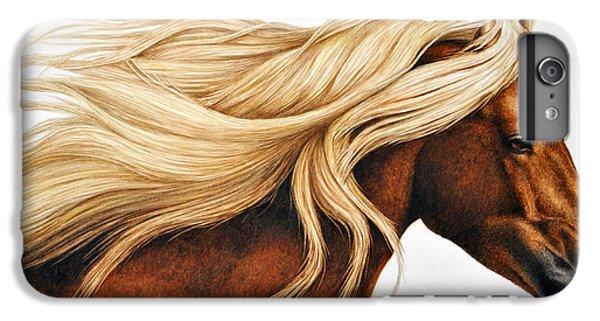 Horse iPhone 6 Plus Case - Spun Gold by Pat Erickson