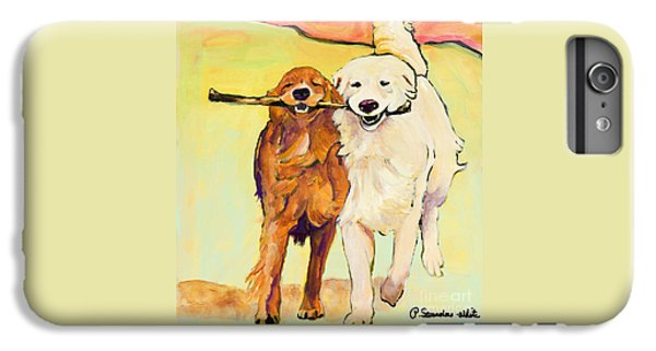 Dog iPhone 6 Plus Case - Stick With Me by Pat Saunders-White