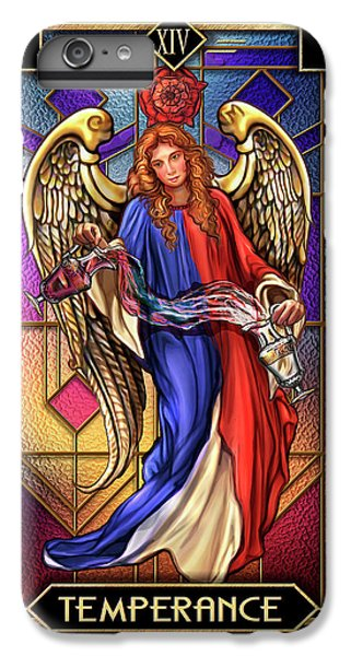 IPhone 6 Plus Case featuring the drawing Temperance by Ciro Marchetti