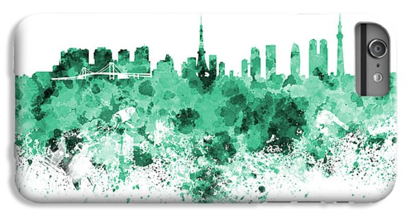 Tokyo Skyline In Watercolor On White Background IPhone 6 Plus Case by Pablo Romero