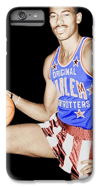 Harlem iPhone 6 Plus Case - Wilt Chamberlain As A Member Of The Harlem Globetrotters  by Mountain Dreams