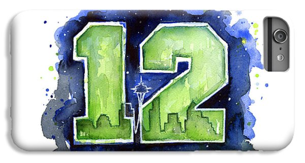 12th Man Seahawks Art Seattle Go Hawks IPhone 6 Plus Case