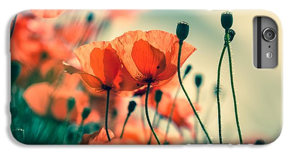 Flowers iPhone 6 Plus Case - Poppy Meadow by Nailia Schwarz