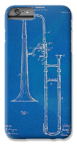 Trombone iPhone 6 Plus Case - 1902 Slide Trombone Patent Blueprint by Nikki Marie Smith