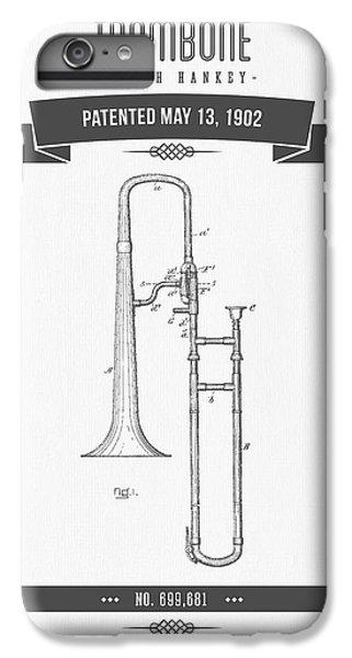 Trombone iPhone 6 Plus Case - 1902 Trombone Patent Drawing by Aged Pixel