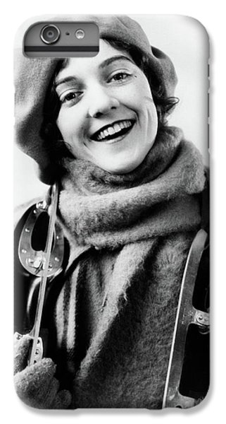 Knit Hat iPhone 6 Plus Case - 1920s 1930s Smiling Woman Dressed by Vintage Images