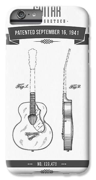 1941 Guitar Patent Drawing IPhone 6 Plus Case by Aged Pixel