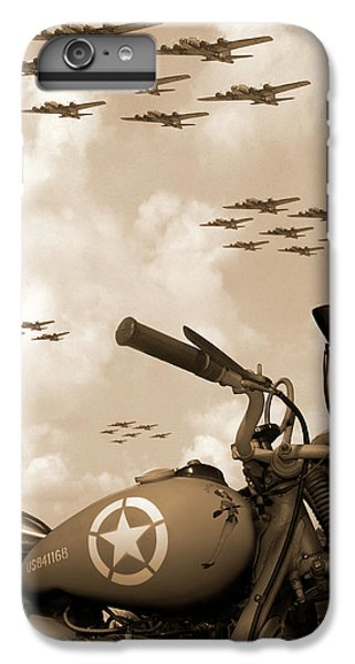 Motorcycle iPhone 6 Plus Case - 1942 Indian 841 - B-17 Flying Fortress' by Mike McGlothlen
