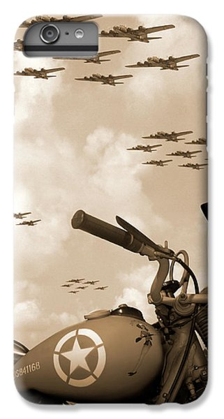 1942 Indian 841 - B-17 Flying Fortress' IPhone 6 Plus Case by Mike McGlothlen