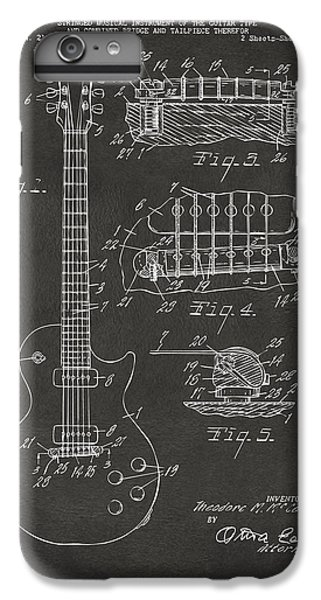 1955 Mccarty Gibson Les Paul Guitar Patent Artwork - Gray IPhone 6 Plus Case